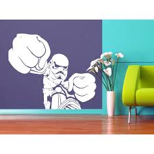 Shop Storm Trooper Fist Fight Star Wars White Vinyl Sticker Wall Art Overstock 10425836