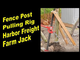 Fence Post Pulling Rig With A Harbor Freight Farm Jack Youtube
