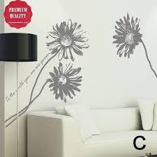 Matte Finish Sunflower Blossoms Wall Decal Flower Wall Decals Wall Decals Wall