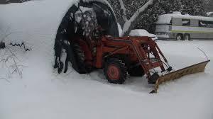 homemade tractor snow plow mount
