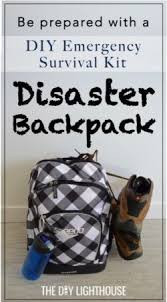 diy disaster backpack emergency 72