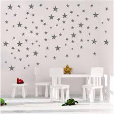Amazon Com Toarti Stars Wall Decals 124 Decals Wall Stickers Removable Home Decoration Easy To Peel Stick Painted Walls Metallic Vinyl Polka Wall Decor Sticker For Baby Kids Nursery Bedroom Silver Stars Arts
