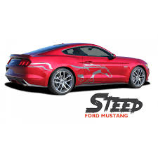 Ford Mustang Steed Pony Horse Side Door Body Vinyl Graphic Decals Stripes Kit For 2015 2016 2017 Stripe Kit Ford Mustang Mustang Stripes