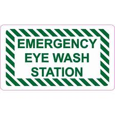 3 5 X 2 Emergency Eye Wash Station Sticker Vinyl Decal Sign Stickers Decals Walmart Com Walmart Com