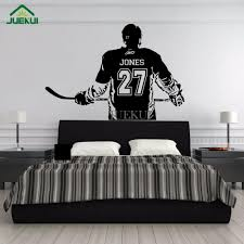 Wall Art Large Ice Hockey Player Custom Jersey Name And Number Vinyl Wall Decal Sticker Decor Kids Bedroom Gym Sports Mural Fish Wall Stickers Floral Wall Decals From Onlinegame 11 94 Dhgate Com