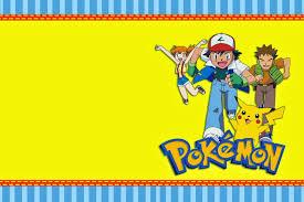 Pin De Mitzy En Mimi Invitaciones De Pokemon Invitaciones Para