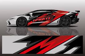 Premium Vector Sport Car Decal Wrap Illustration