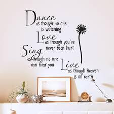 Children S Bedroom Words Phrases Decals Stickers Vinyl Art Vinyl Stickers Dance Love Sing Live Wall Decal Quotes Ball Room Mural Art Decor Proflow Cl