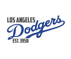 Amazon Com La Dodgers Wall Decal Est 1958 Baseball Sports Team Decor Vinyl Mlb Lettering Design For Living Room Bedroom Headboard Man Cave Blue White Gray Black Other Colors