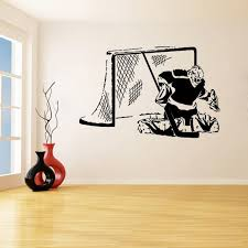 Hockey Goalie Goalkeeper Wall Stickers For Nursery Kids Children Boys Bedroom Playroom Vinyl Decals Living Room Art Decor Inspirational Wall Decals Kid Wall Decals From Joystickers 11 67 Dhgate Com