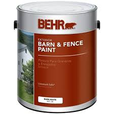 Behr 1 Gal White Exterior Barn And Fence Paint Fence Paint Roof Paint Exterior Paint