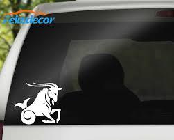 Capricorn Die Cut Bumper Sticke Rart Auto Decor Vinyl Car Window Side Door Decals Waterproof L076 Aliexpress