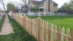 Mc Fence And Deck Residential Fencing Colonial Gothic Picket Cedar Fence Installation In Leesburg