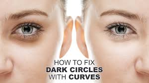 dark circles with curves in photo