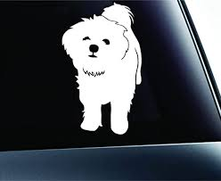 Amazon Com Expressdecor Maltese Symbol Decal Paw Print Dog Puppy Pet Family Breed Love Car Truck Sticker Window White Automotive