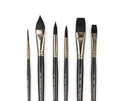 review black tulip watercolor brushes