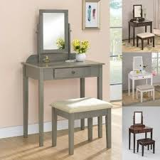 vanity makeup desk with stool 1 drawer