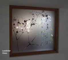 etched glass gypsophila feature window
