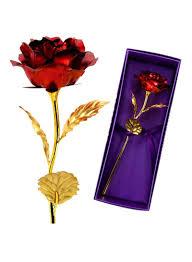 تسوق كياوكاي ووردة مطلية بالذهب عيار 24 قيراطا أحمر ذهبي 26x9