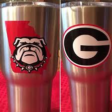 Georgia Bulldogs Yeti Cup Https M Facebook Com Atozmonogramsanddesigns Glitter Cups Georgia Bulldogs Vinyl Decals