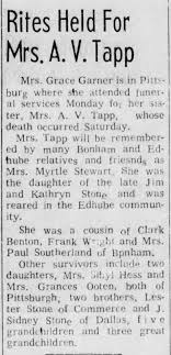 Tapp, Myrtle (Stone) Stewart Tapp - Obituary - 1968 - Newspapers.com