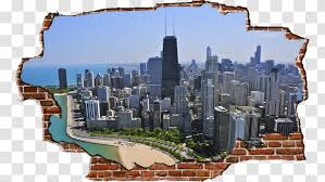Chicago Skyline Yale Insurance Inc Building Wall Decal Transparent Png