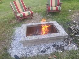 diy fire pit with custom cap stone