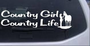 Country Girl Country Life With Horse Car Or Truck Window Decal Sticker Rad Dezigns