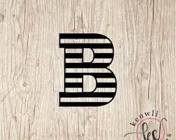 Letter B Vinyl Etsy