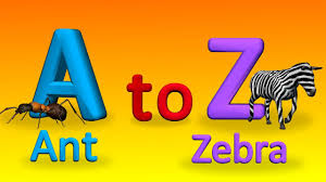 z alphabets with spellings for children