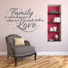 Family Is What Happens When Two People Fall In Love Wall Decal Style And Apply