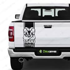 Truck Tailgate Vinyl Decal Fits Dodge Ram Ecodiesel 3 0 L V6 Rear Sticker Mascot Chicocanvas