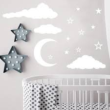Cloud Wall Decals Moon And Stars Wall Decals Nursery Wall Decal Star Wall Decal Moon And Stars Wall Stickers Wall Vinyl Sticker Nursery Baby Room Decor Art Kp3 Handmade Cjp Org In