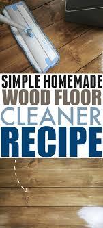 simple homemade wood floor cleaner