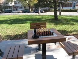 outdoor park chess boards and equipment