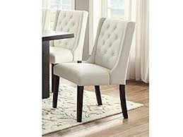 casual white faux leather dining chairs