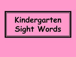 PPT - Kindergarten Sight Words PowerPoint Presentation, free ...