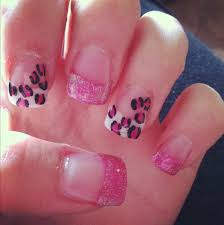 white tip nail designs with diamonds