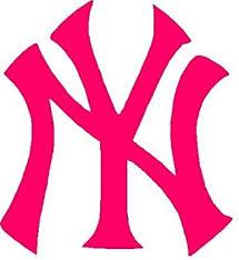 Amazon Com Ny Yankee Baseball 3 Hot Pink Decal Sticker Automotive