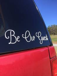 Be Our Guest Beauty And The Beast Car Decal By Powderspringprints Beauty And The Beast Spring Prints Photo