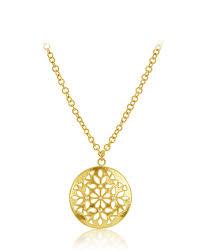 large shevanti disc pendant necklace