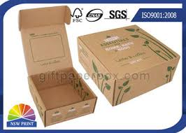 corrugated mailer box on s