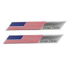 Metal Us Flag Car Decal Sticker Usa United States Fender Trunk Emblem Badge Ebay