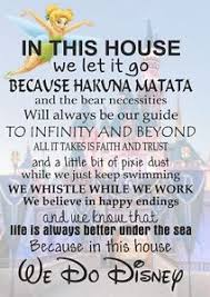 we do disney poster home house rules quote wall art