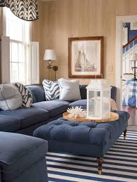 living room furniture with dark blue
