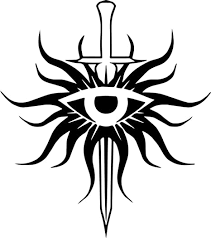 Amazon Com Dragon Age Inquisition Eye Logo Stickers Symbol 5 5 Decorative Die Cut Decal For Cars Tablets Laptops Skateboard White Computers Accessories