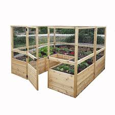 Outdoor Living Today 8 Ft X 8 Ft Raised Garden Bed W Deer Fence Option The Home Depot Canada