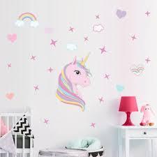 Unicorn Wall Decal Unicorn Home Decor Unicorn Wall Stickers Etsy