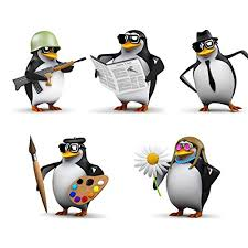 Etie 5pcs Set Cartoon Penguin Car Decal Buy Online In Cambodia At Desertcart