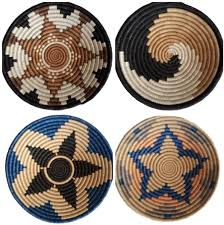 4 african woven wall baskets image 2